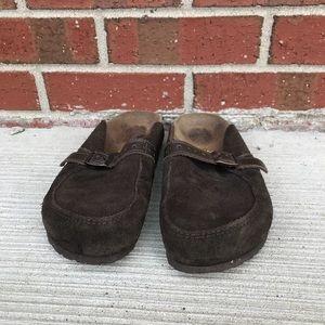 Birkenstock Brown Suede Footbed Sandals 38 L7
